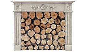 Frente de chimenea columnas estrechas