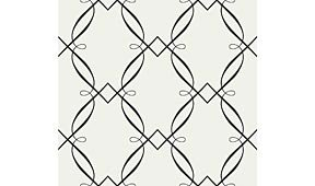 Rollo de papel pintado blanco cenefa