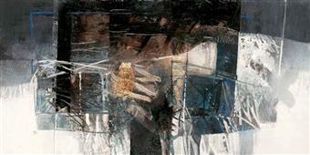 Cuadro canvas la valle dai riflessi di creta