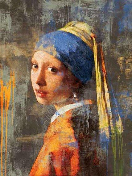 Cuadro canvas vermeer girl dos punto cero