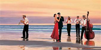 Cuadro canvas romance on the beach