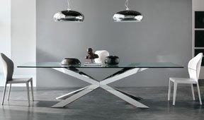 Mesa de comedor moderna cristal Spyder