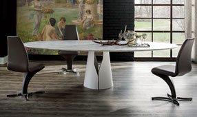 Mesa de comedor ovalada moderna Giano