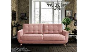 Sofá retro Sterling Cooper edición especial rosa cuarzo