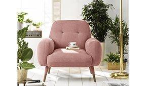 Butaca moderna Kinsey edición especial rosa cuarzo