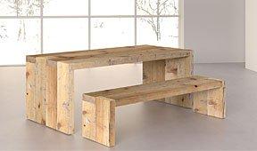 Mesa de comedor Denver de madera centenaria