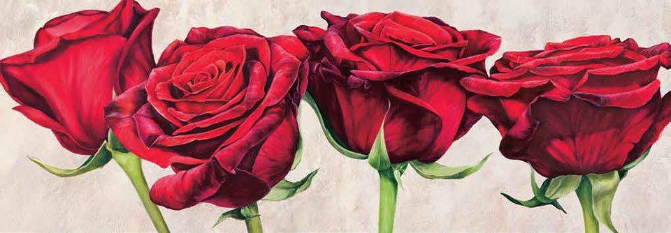 Cuadro canvas rose romantiche