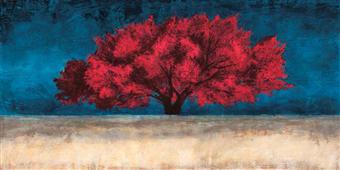 Cuadro canvas red tree