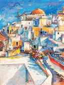Cuadro canvas santorini