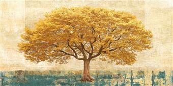 Cuadro canvas gilded oak