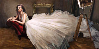 Cuadro canvas the white dress