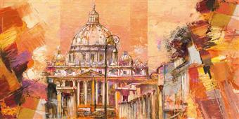 Cuadro canvas splendida roma
