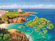 Cuadro canvas costa del mediterraneo