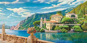 Cuadro canvas villa sul lago