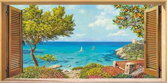 Cuadro canvas finestra sul mare