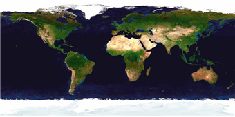 Cuadro canvas nasa earth in daylight