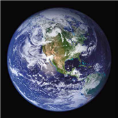 Cuadro canvas earth view from space north america