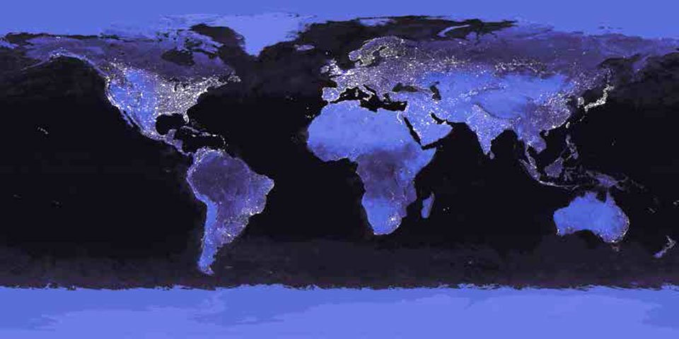 Cuadro canvas nasa earth at night