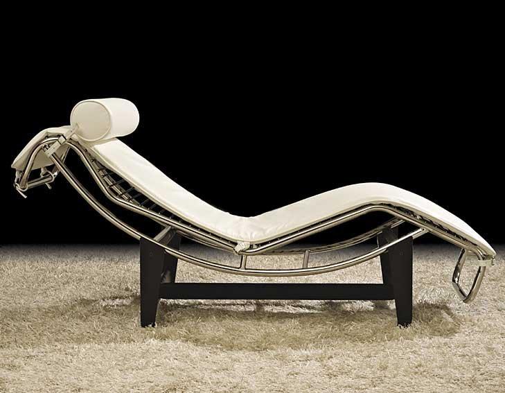 Chaise Longue Piel Blanca Lecce