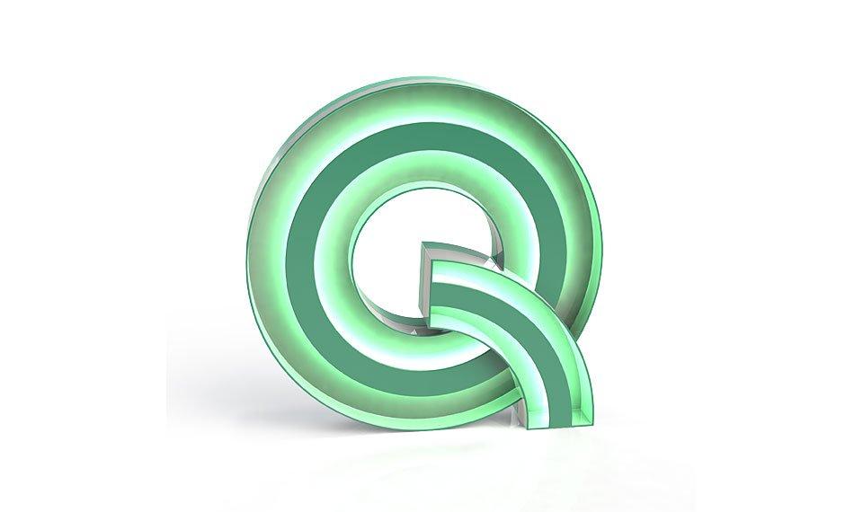 Aplique letra Q