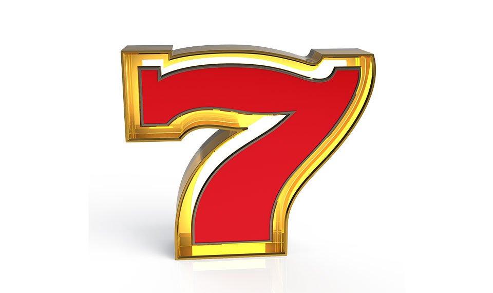 Aplique número 7 color rojo