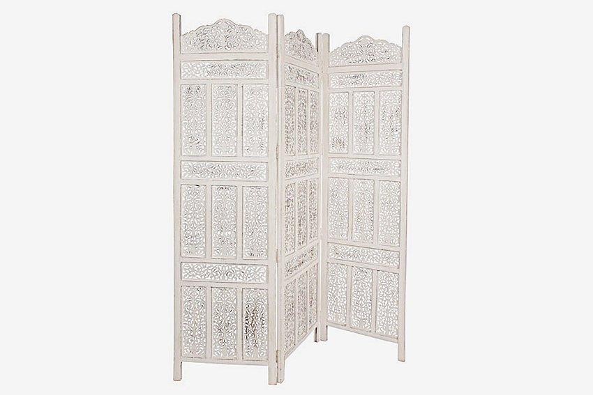 Biombo Vintage blanco Kartik