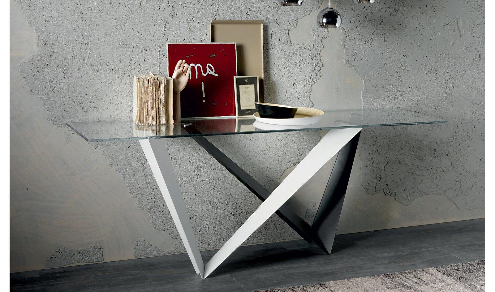 Consola cristal moderna Westin