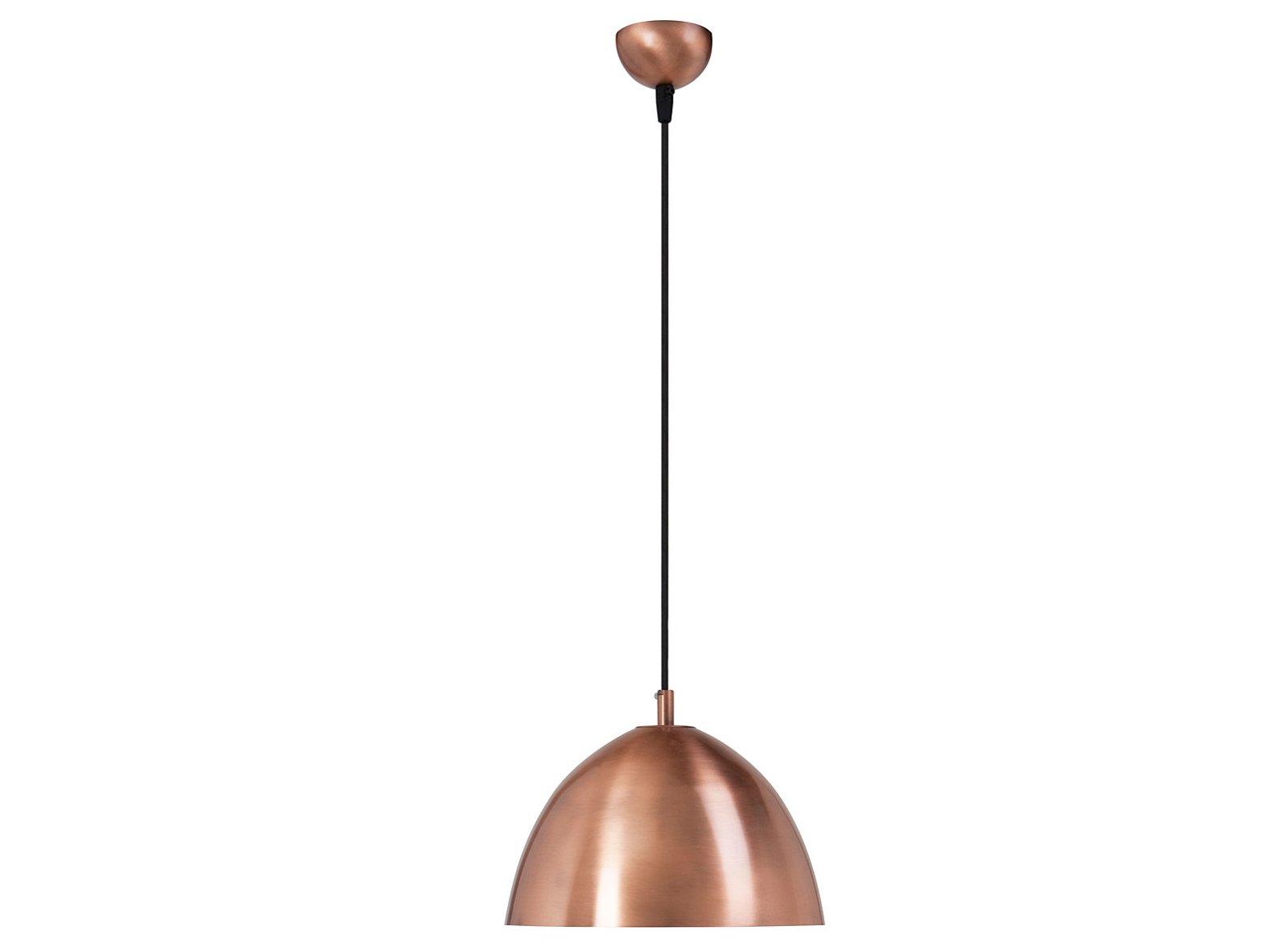 Lámpara de techo cobre curva