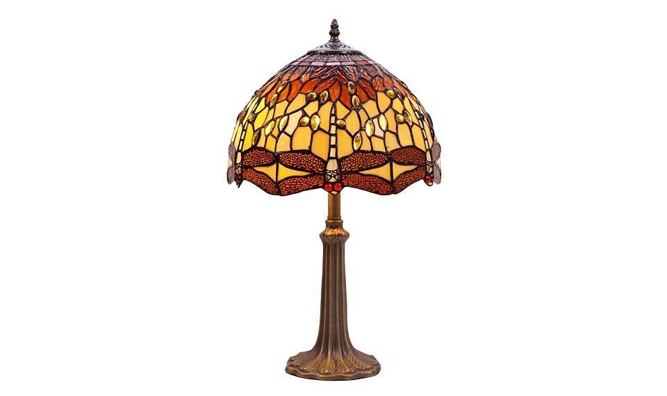 Lámpara libélula mediana de sobremesa BELLE AMBER