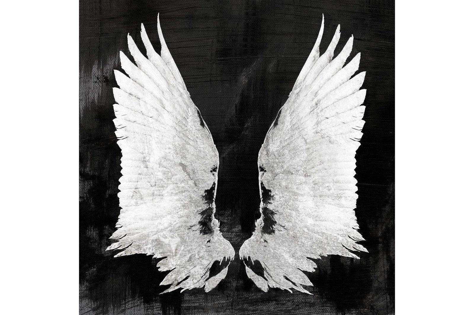 Lienzo serigrafiado Wings negro