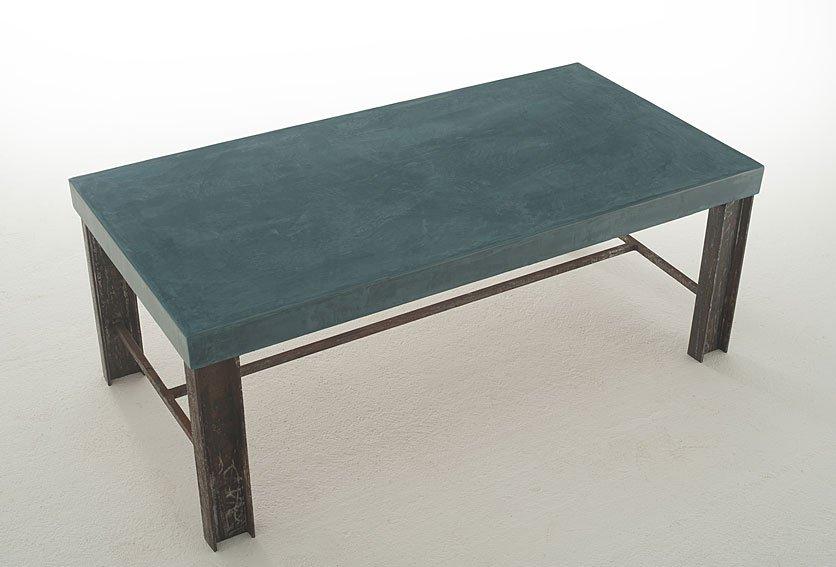 Mesa de Centro Vintage tapa gruesa Natrón