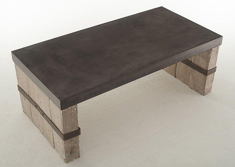 Mesa de Centro Vintage tapa gruesa Olivino