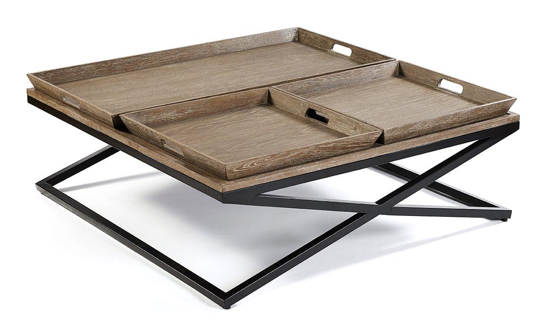 Mesa de centro cuadrada vintage Kembar