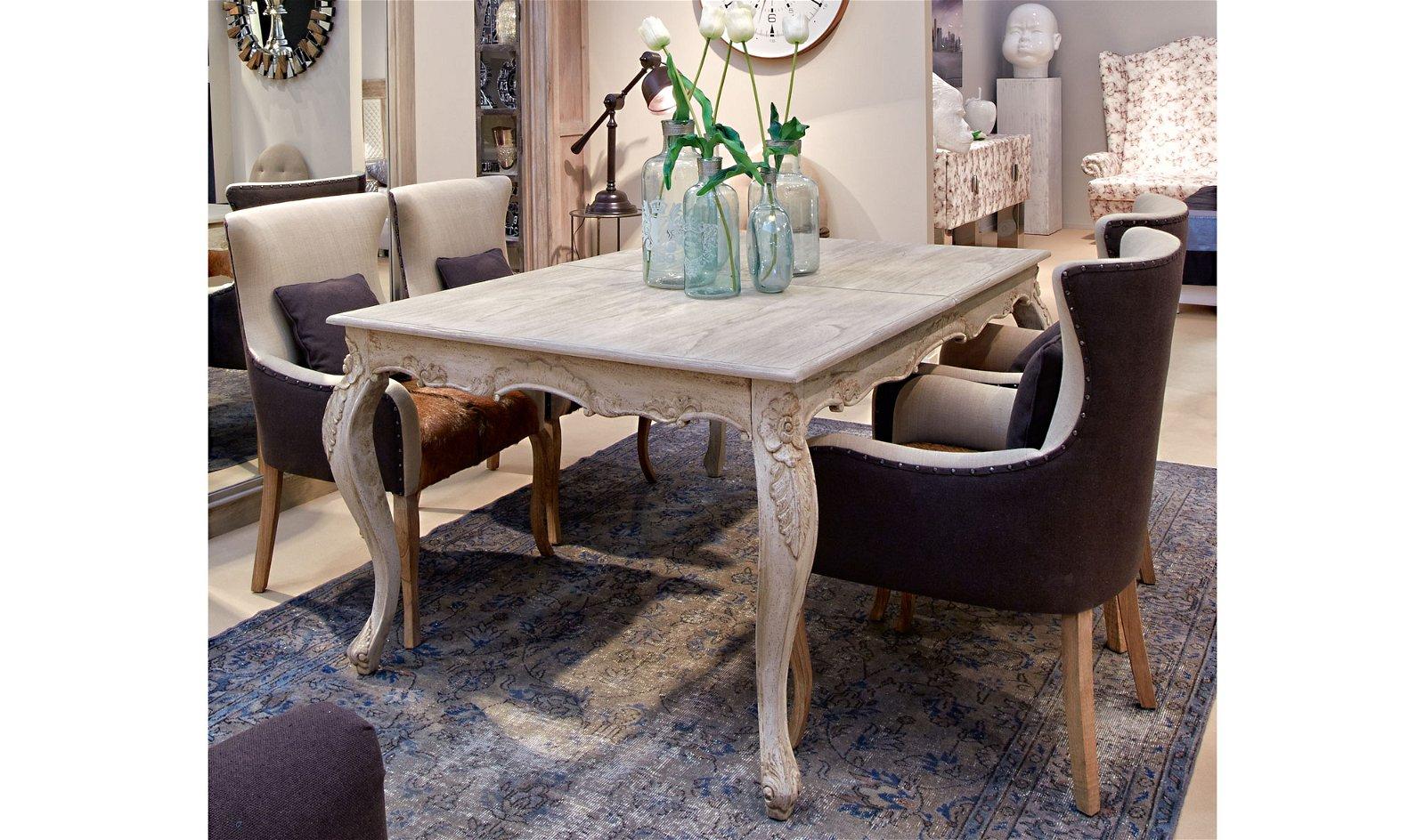 Mesa de comedor extensible vintage Lousion