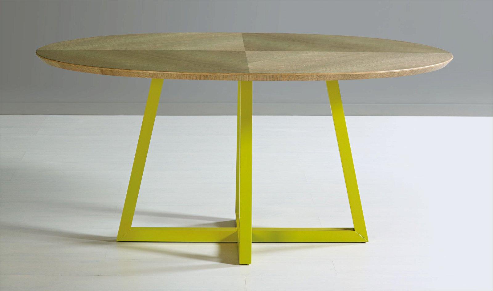 Mesa de comedor ovalada Vintage Saser