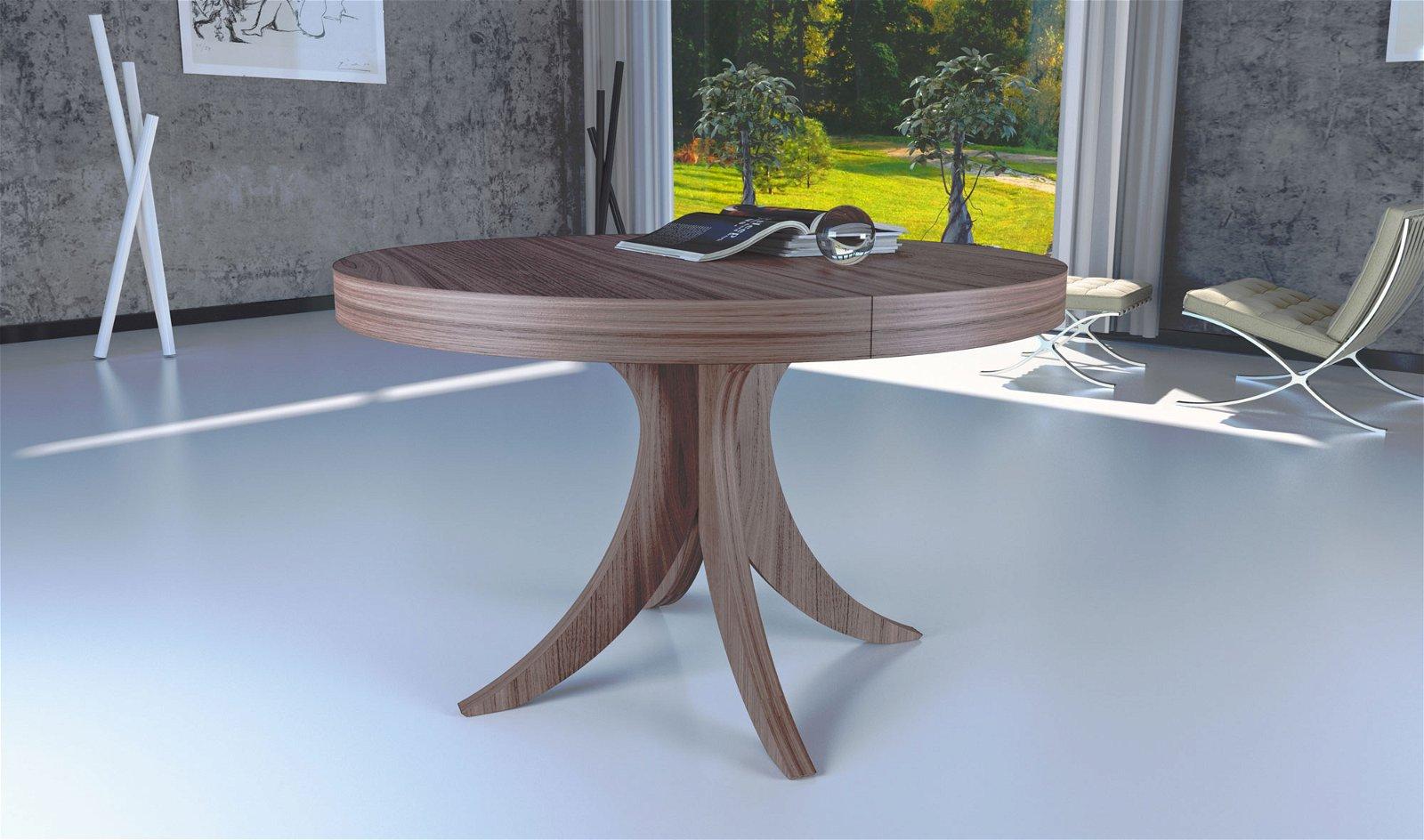 Mesa de comedor redonda extensible moderna Ronda