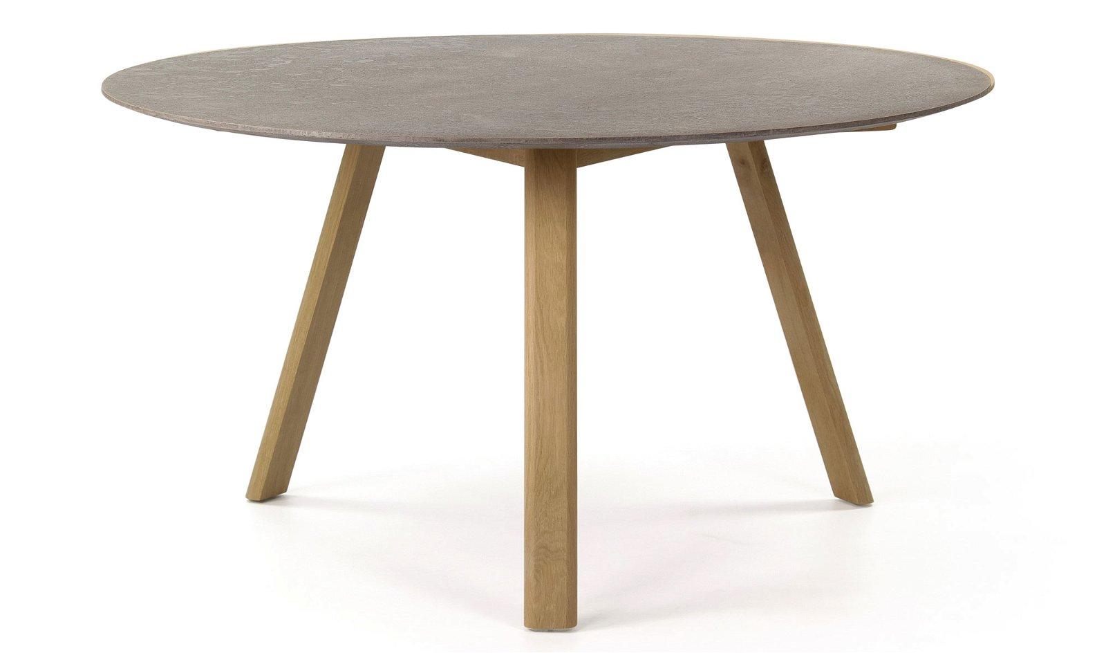 Mesa de comedor redonda nórdica cemento