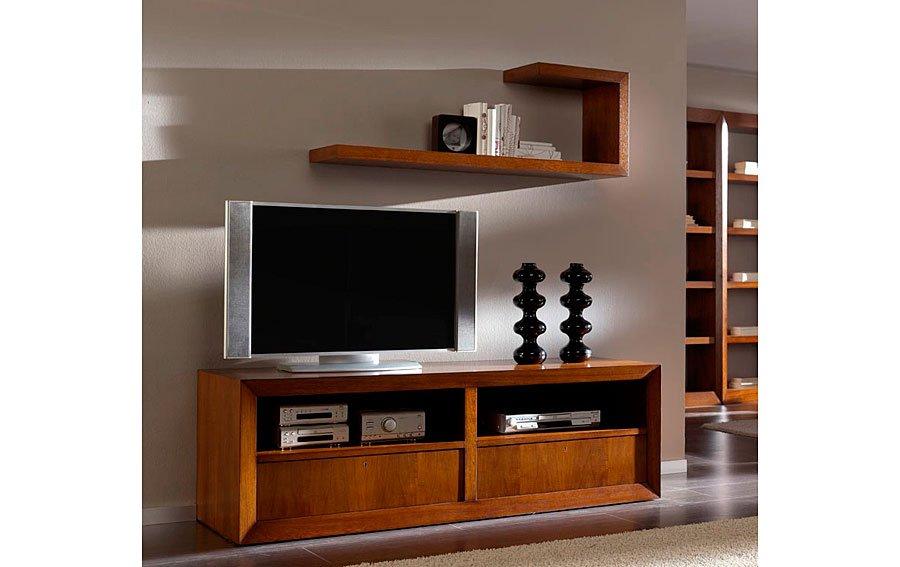 Mueble Tv madera con ruedas