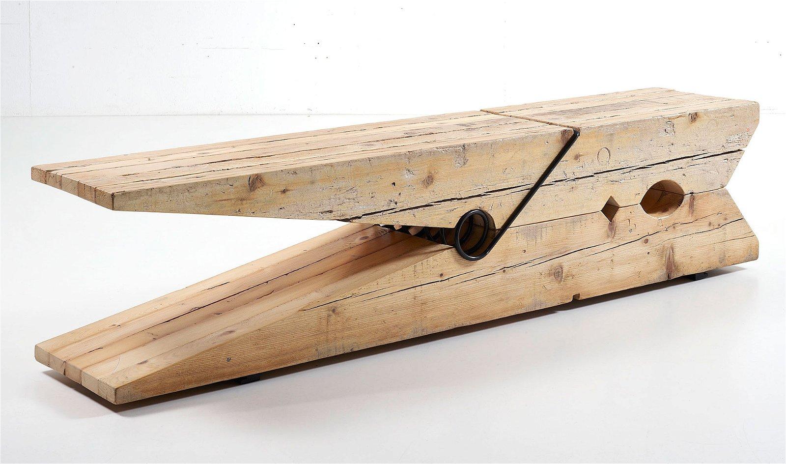 Pinza de madera centenaria reciclada