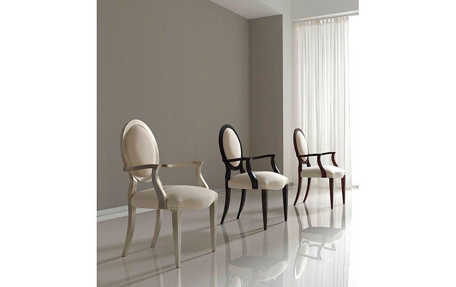 Sillón moderno tapizado blanca Lou