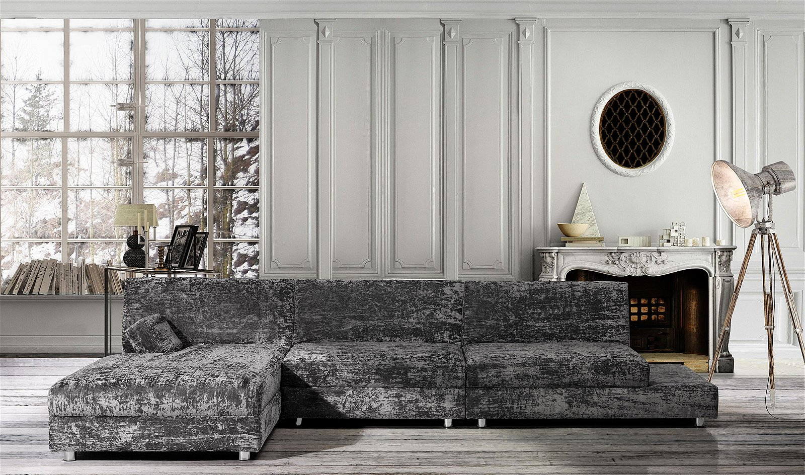 Sofá Avalon Manhattan con chaise longue