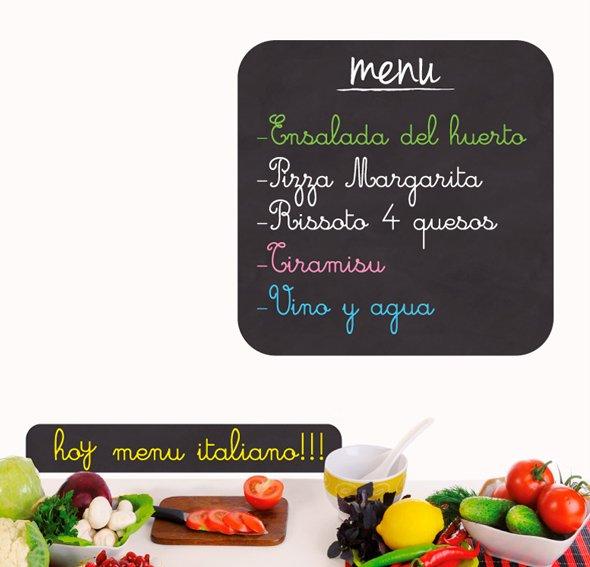 Vinilo menu