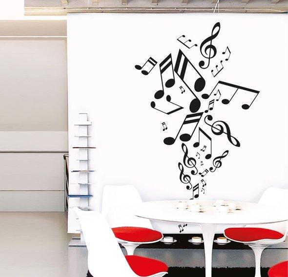 Vinilo musical notes