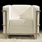 Sofá Moderno Piel Blanca Chieti
