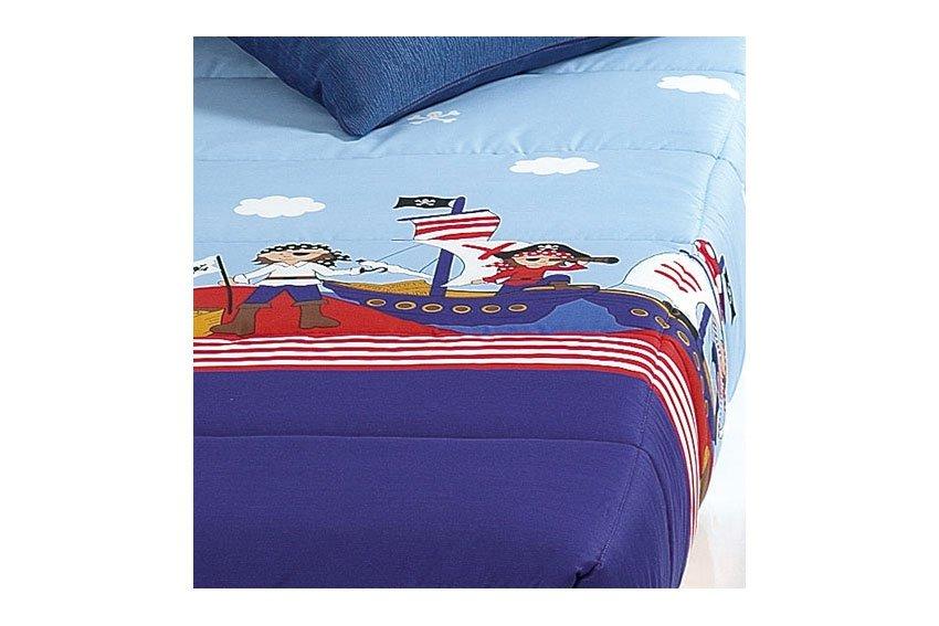 Edredón ajustable estampado piratas para cama de 90 o 105