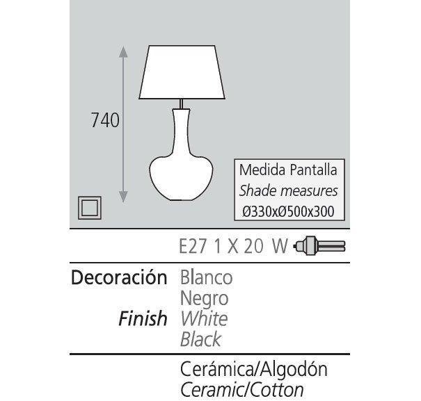 Lámpara de sobremesa design