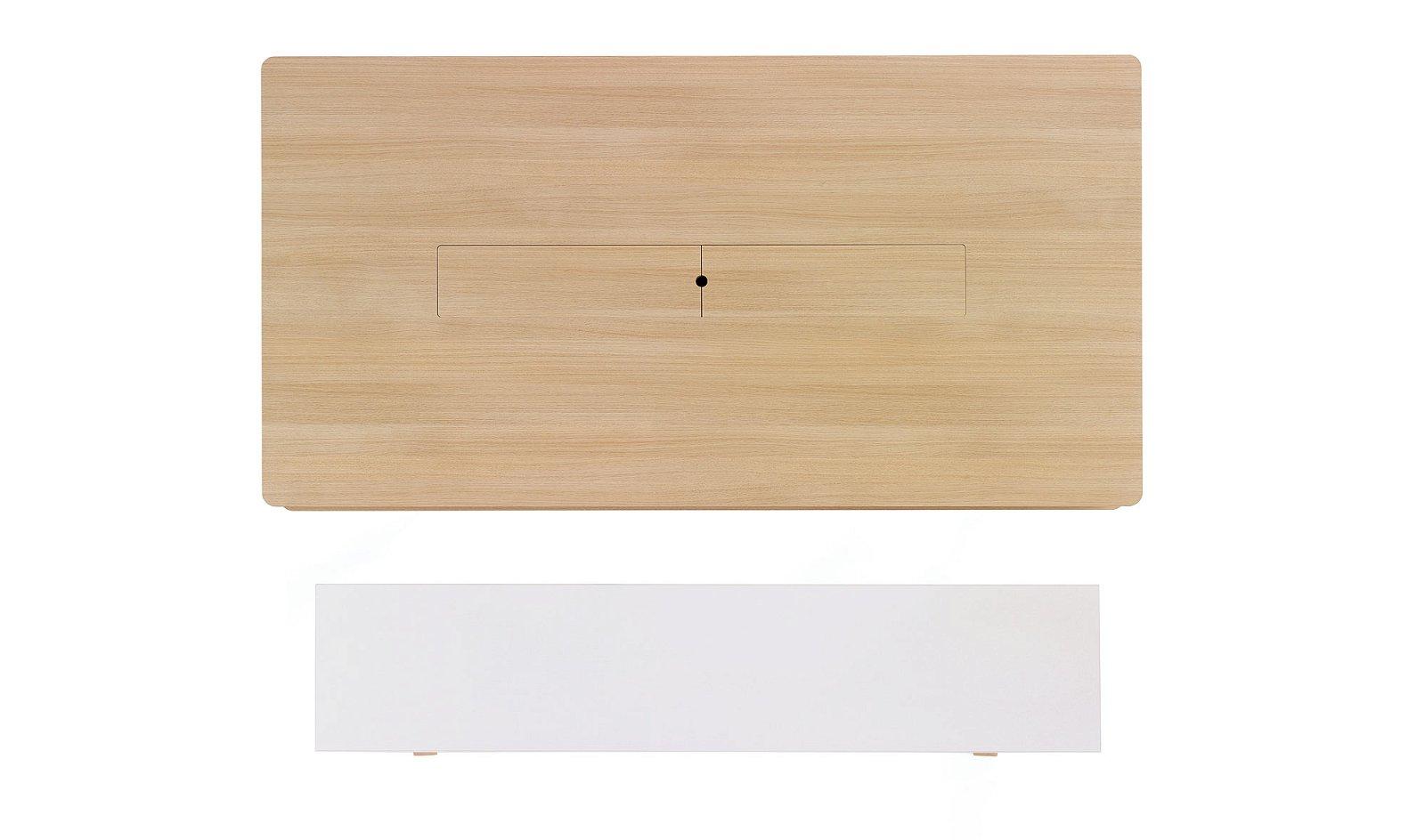 Mesa vox 3 cajones y hueco central