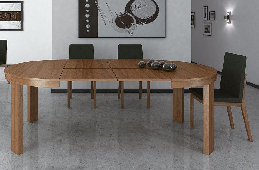 Mesa de Comedor redonda extensible Moderna Julia