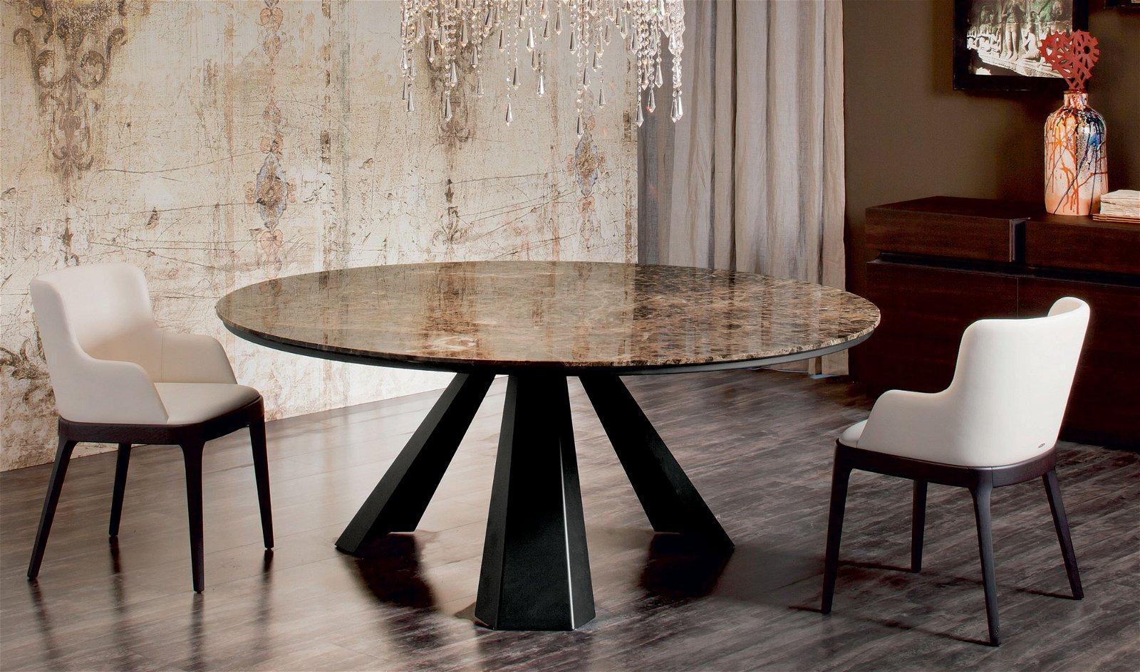 Mesa de comedor redonda Moderna Eliot
