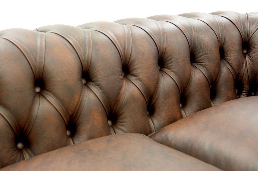Sofá 3 plazas marrón oscuro chesterfield Chesire